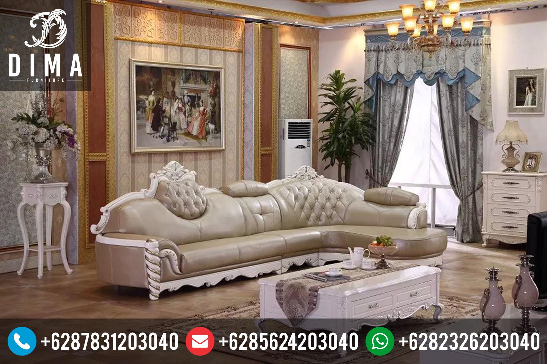 Furniture Jepara Set Sofa Kursi Tamu Sudut L Terbaru Murah ST-0045