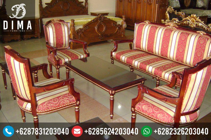 Mebel Jepara Murah Set Kursi Sofa Tamu Jati Klasik Mewah ST-0026