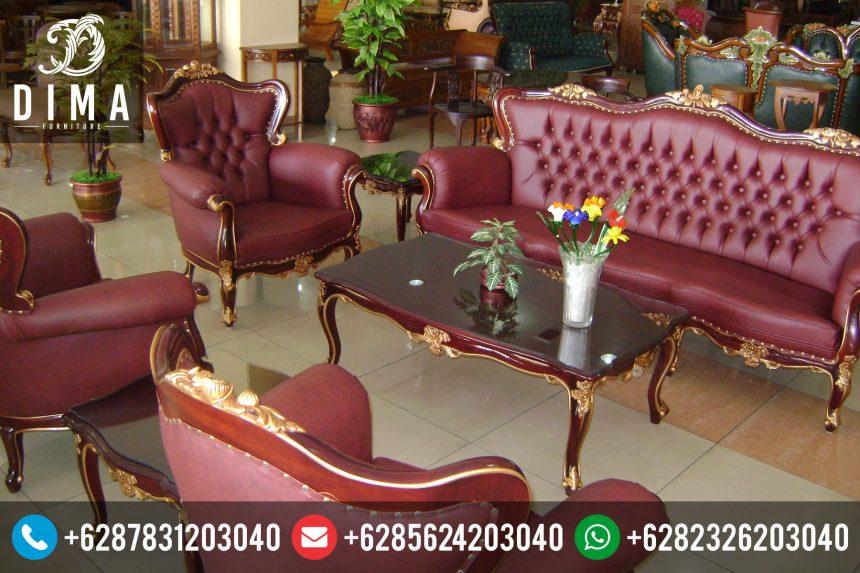 Mebel Jepara Terbaru Murah Set Kursi Sofa Tamu Minimalis Jati Mewah ST-0022