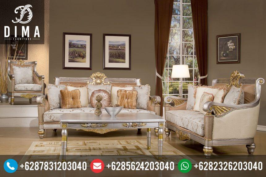 Mebel Mewah Jepara Set Kursi Sofa Tamu Klasik Duco Terbaru Murah ST-0047
