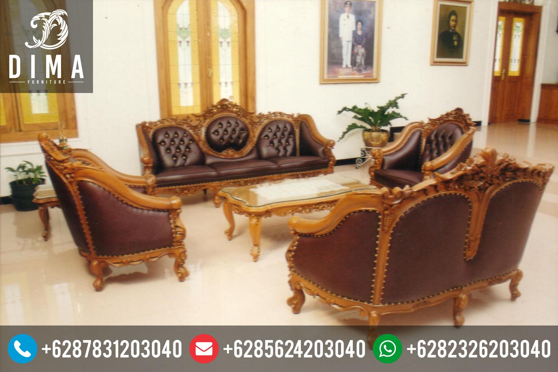 Set Kursi Sofa Tamu Jati Ganesa Mewah Terbaru STJ-0010