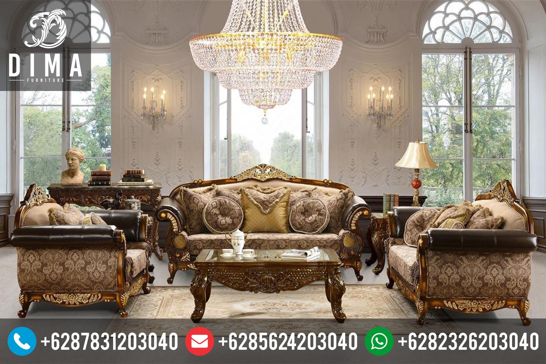 Set Kursi Sofa Tamu Klasik Mewah Terbaru Duco STJ-0002