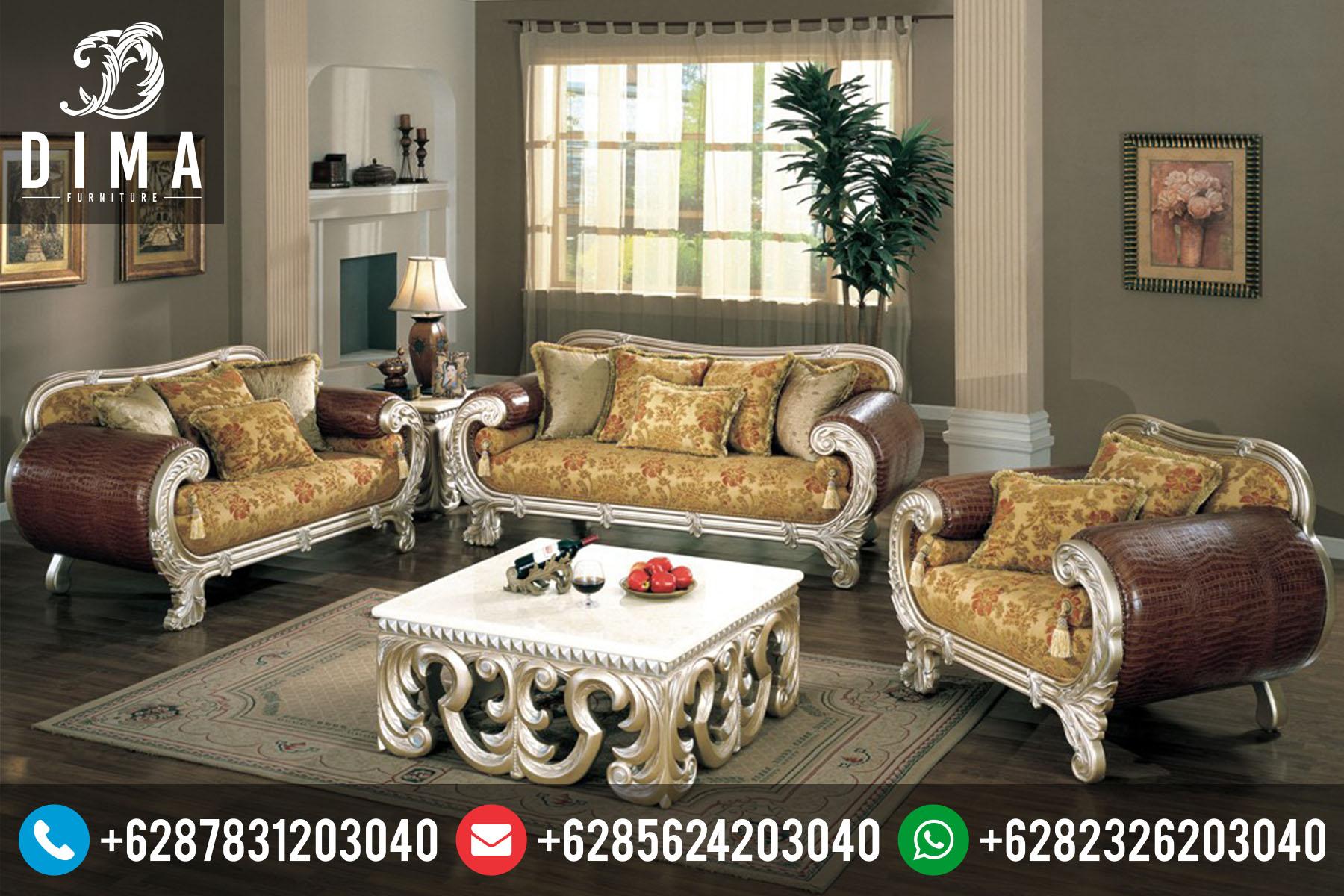 Set Kursi Sofa Tamu Klasik Mewah Ukir Terbaru Duco STJ-0003