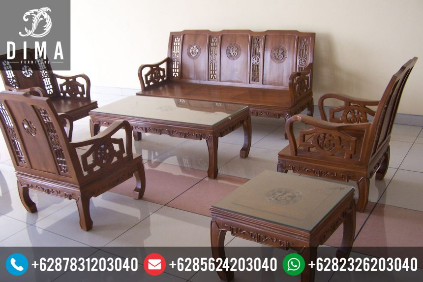 Set Kursi Sofa Tamu Minimalis Jati Mewah Murah Terbaru STJ-0012