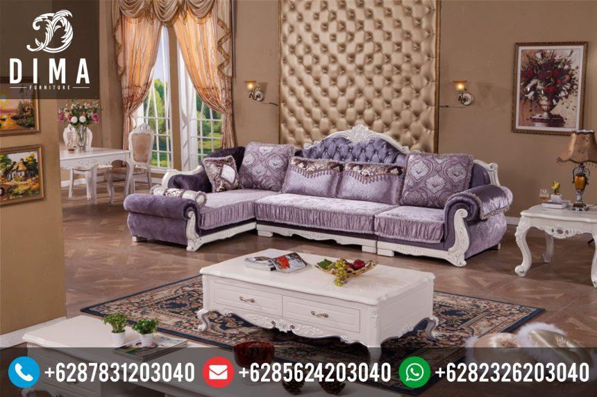 Set Sofa Kursi Ruang Tamu Sudut L Mewah Terbaru ST-0051