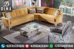 Set Sofa Kursi Tamu Sudut L Minimalis Vintage Terbaru ST-0019