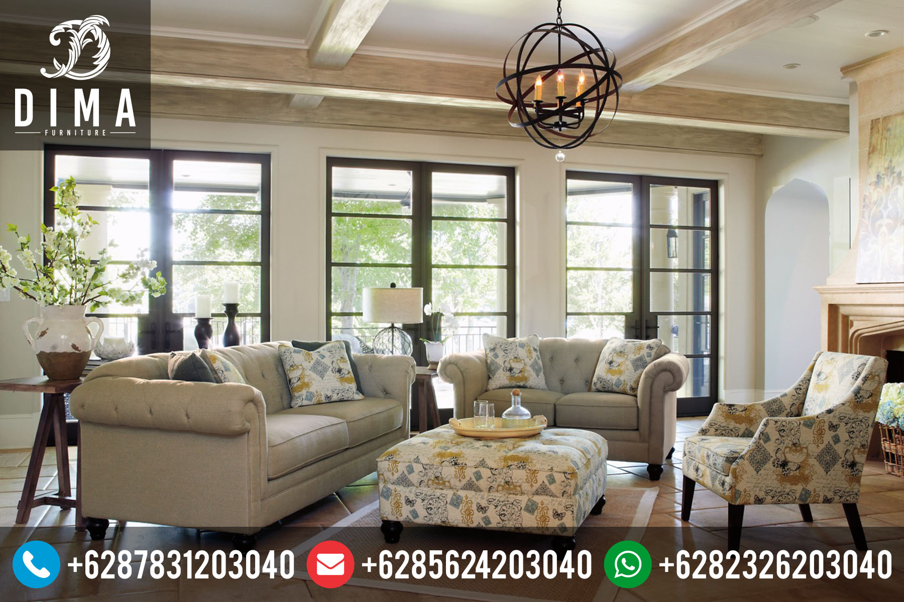 Set Sofa Tamu Minimalis Modern Vintage Terbaru Murah ST-0024
