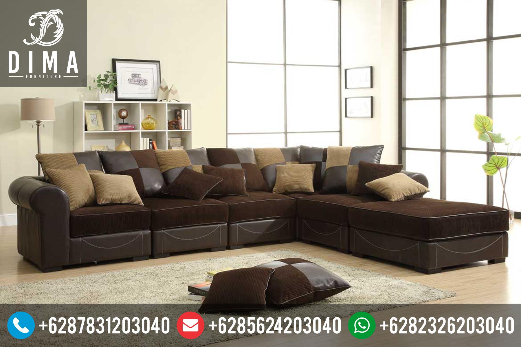 set sofa tamu sudut l minimalis modern terbaru murah sofa ta