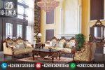 Sofa Tamu Mewah Klasik Ukir Terbaru Murah STJ-0004