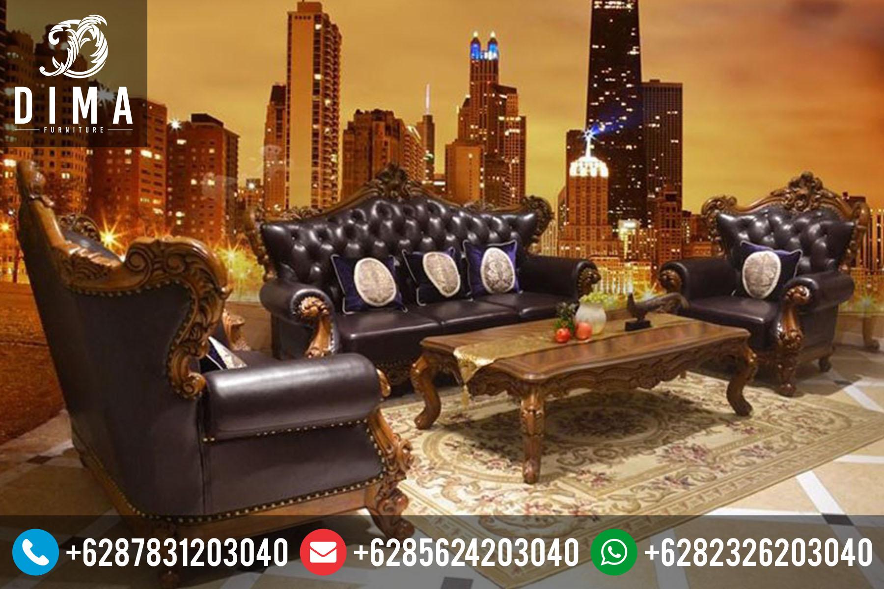 Kursi Sofa Tamu Jati Klasik Mewah Terbaru Ukiran Jepara ST-0086