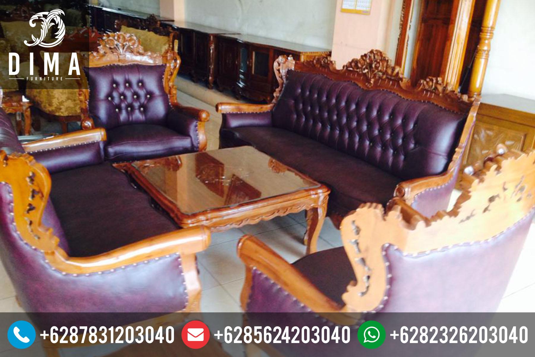 Kursi Sofa Tamu Jati Mewah Murah Terbaru Ukir Jepara ST-0085