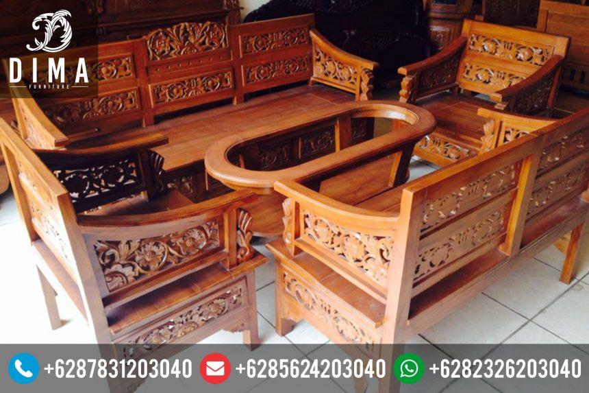 Kursi Sofa Tamu Jati Minimalis Ukir Mewah Murah Terbaru ST-0088