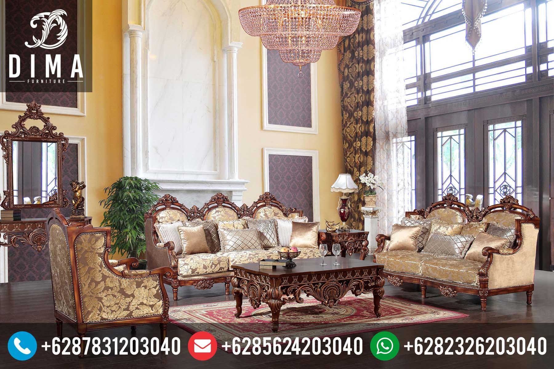 Kursi Sofa Tamu Mewah Jati Klasik Jepara Terbaru Murah ST-0071
