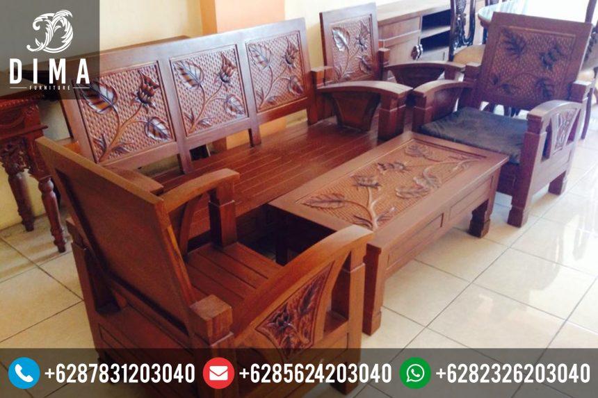 Kursi Tamu Jati Minimalis Ukir Jepara Mewah Murah Terbaru ST-0089
