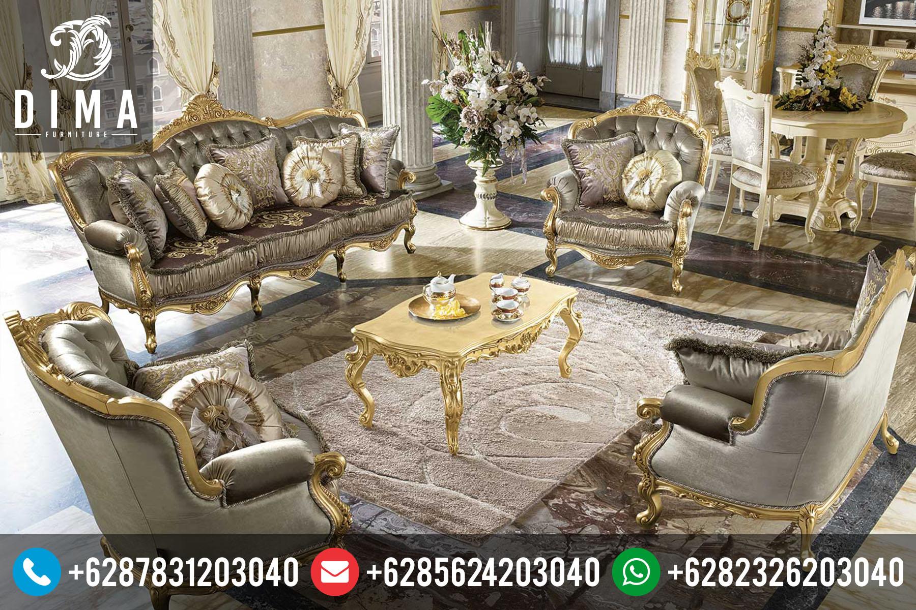 Mebel Jepara Set Kursi Sofa Tamu Klasik Italian Terbaru Mewah Murah ST-0058