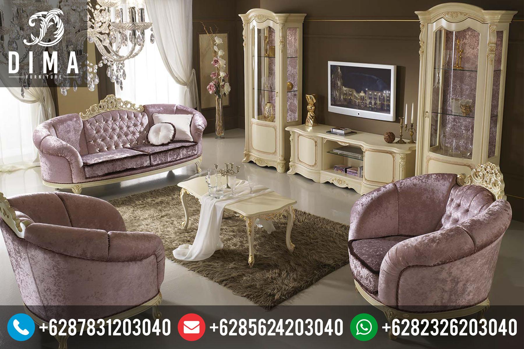 Mebel Murah Jepara Set Sofa Kursi Tamu Rococo Mewah Terbaru ST-0055