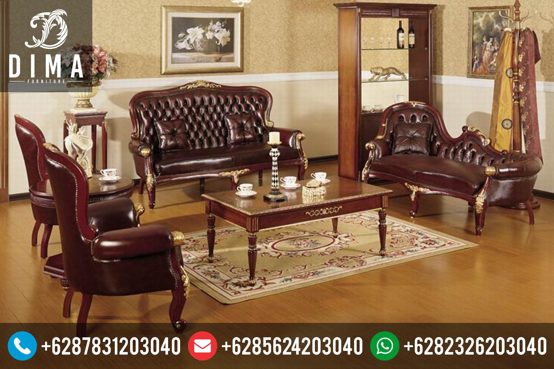 Mebel Ruang Tamu Set Kursi Sofa Tamu Klasik Mewah Terbaru