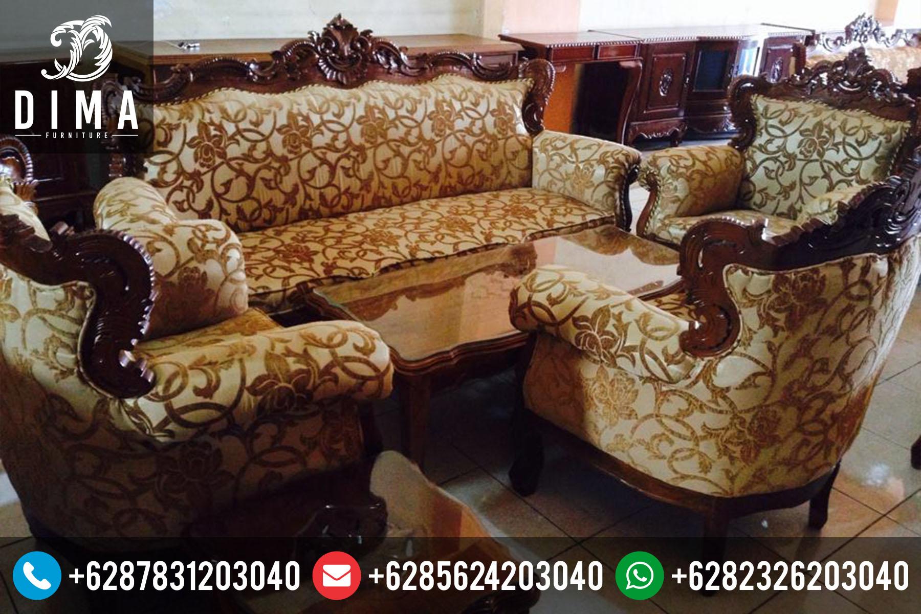 Set Kursi Sofa Tamu Jati Ukir Jepara Murah Terbaru ST-0066