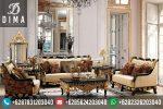 Set Kursi Sofa Tamu Klasik Mewah Murah Terbaru Duco Hitam Emas ST-0103