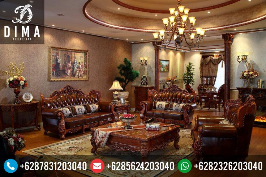 Sofa Kursi Tamu Mewah Ukir Jati Jepara Terbaru Murah ST-0073