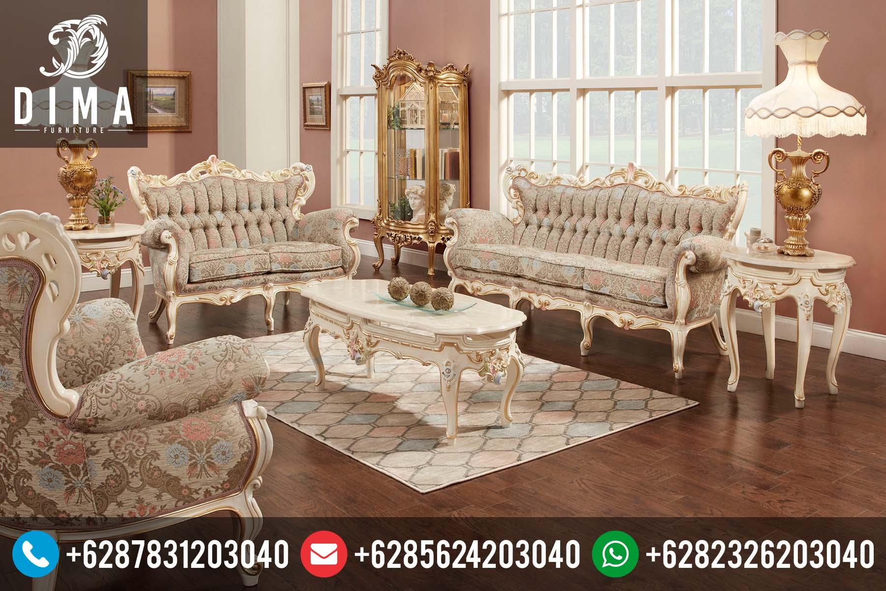 Sofa Ruang Tamu Mewah Murah Terbaru Ukiran Jepara ST-0100