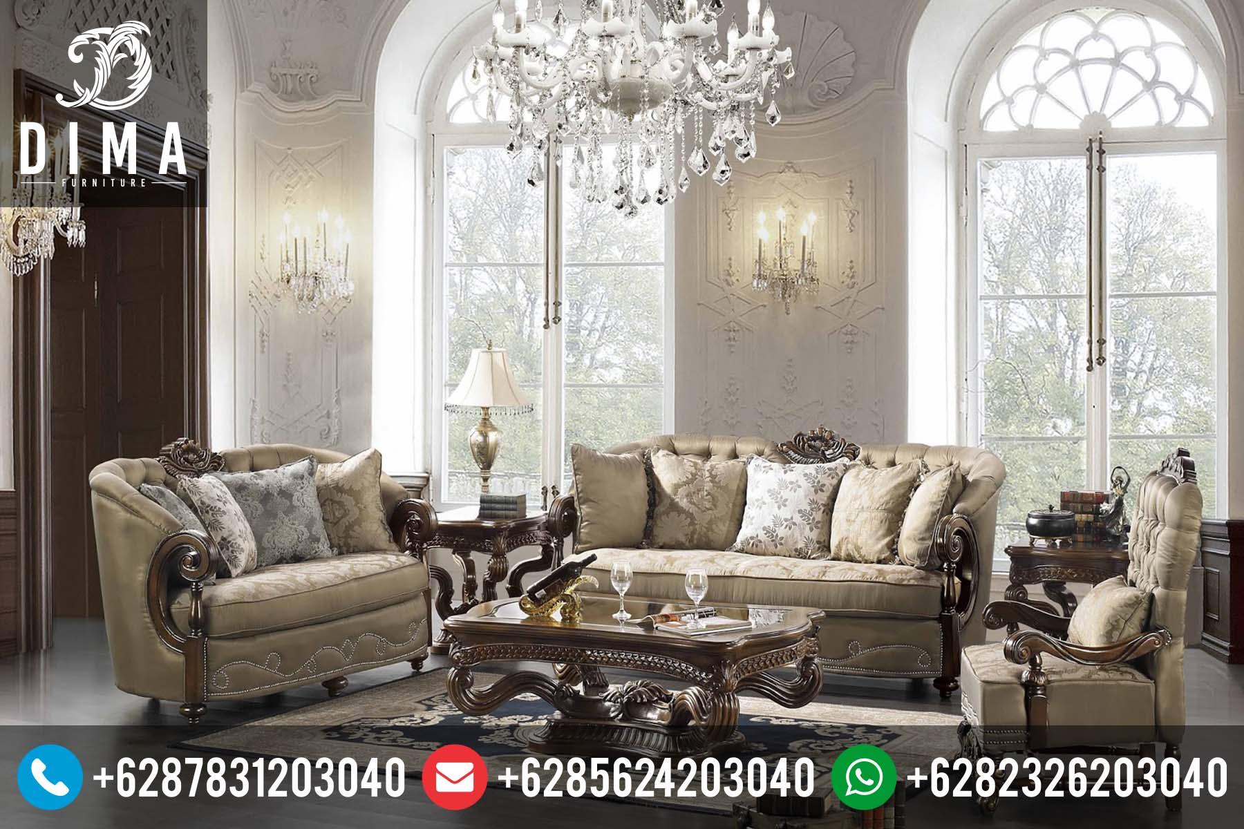 Sofa Tamu Minimalis Klasik Terbaru Ukir Jepara Natural ST-0083