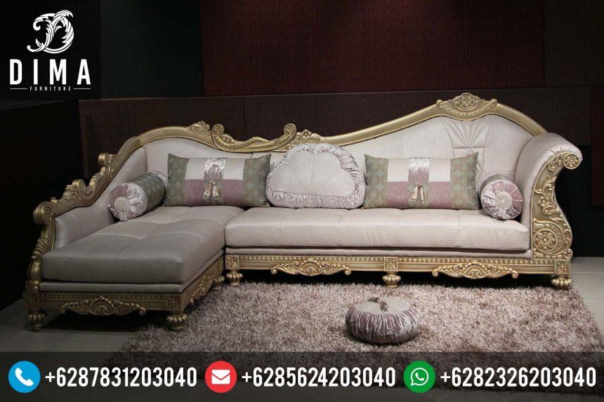 Kursi Sofa Sudut L Klasik Minimalis Mewah Terbaru Harga Murah ST-0134