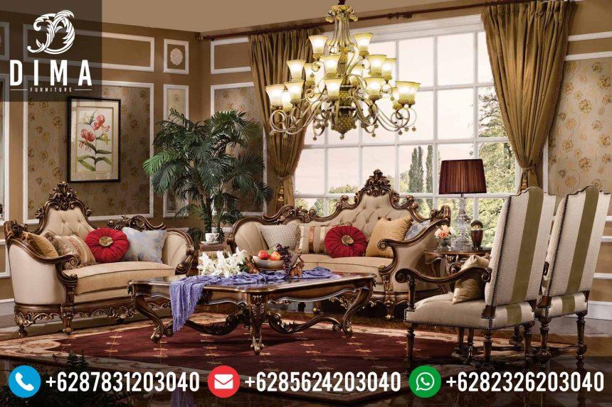 Set Kursi Sofa Tamu Mewah Murah Terbaru Ukiran Jepara Klasik Agustine ST-0153