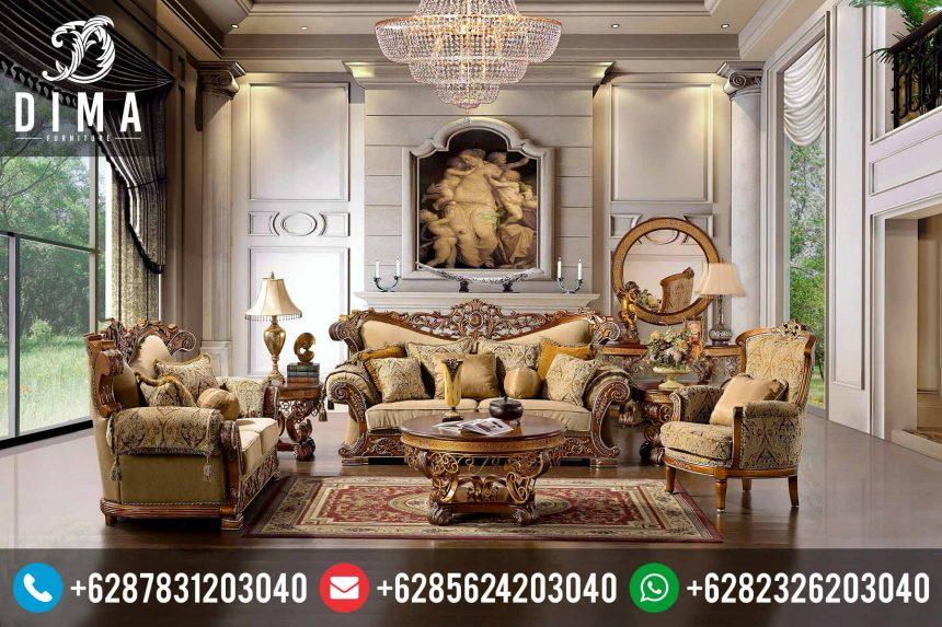 Set Kursi Tamu Jepara Mewah Klasik Terbaru Royal Golden Murah ST-0143