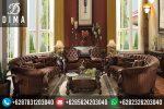 Sofa Kursi Tamu Murah Mewah Terbaru Ukir Jepara Finishing Natural ST-0154