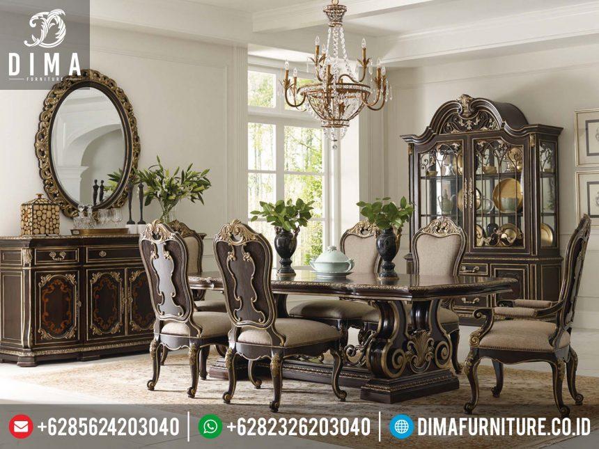 Furniture Ruang Makan Set Kursi Meja Makan Klasik Mewah Jepara Terbaru Murah ST-0193