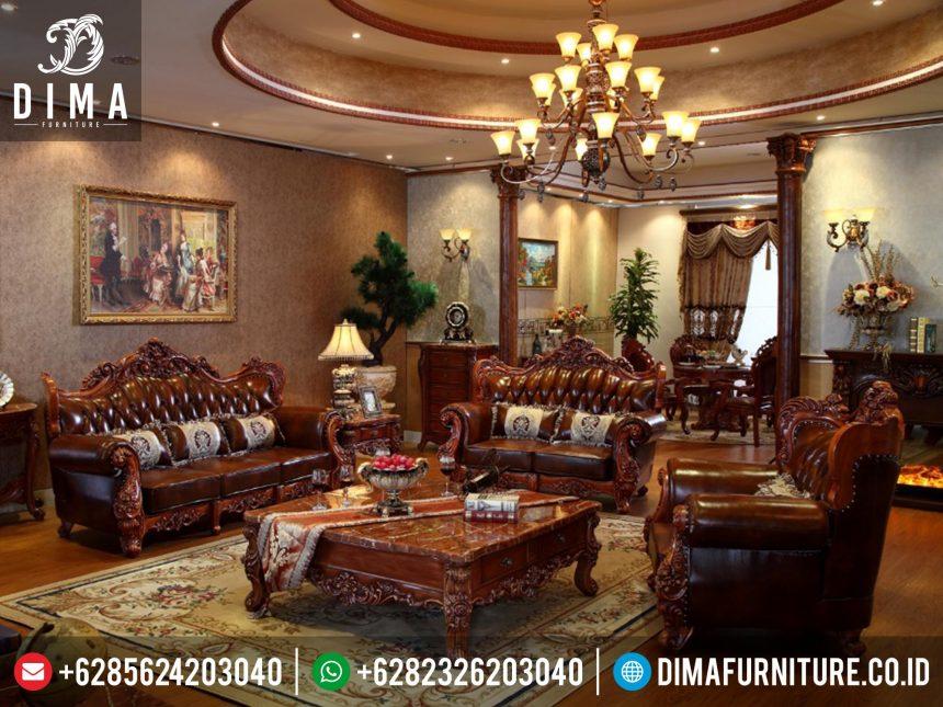 Kursi Tamu Jati Mewah, Set Kursi Tamu Jati Jepara, Set Ruang Tamu Mewah ST-0201