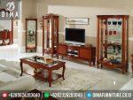 ST-0239 Set Buffet TV Lemari Hias Minimalis Mewah Jati Terbaru