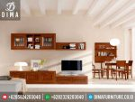 ST-0240 Set Bufet TV Minimalis Modern Jati TPK Jepara Mewah Terbaru