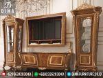 Set Bufet TV Dan Lemari Hias Mewah Minimalis Classic Jepara Terbaru Murah ST-0224