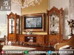 Set Bufet TV Lemari Hias Klasik Mewah Jepara Terbaru ST-0222