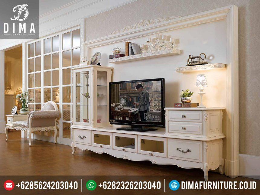 Set Buffet TV Minimalis Klasik Mewah, Set Bufet TV Classic Jepara, Set Meja TV Minimalis Modern Jepara ST-0213