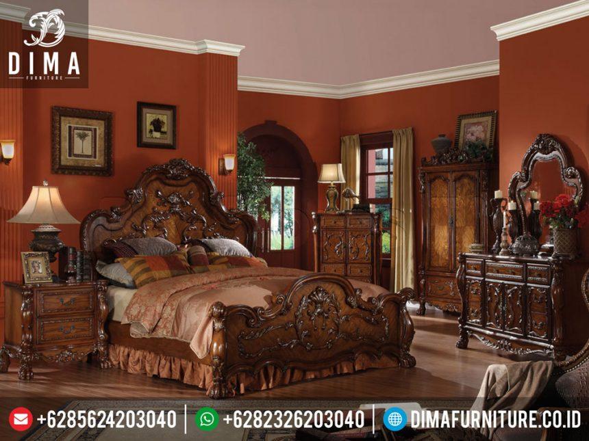 Set Kamar Tidur Klasik Mewah Jati Jepara Terbaru Luxury Carving Wood ST-0234