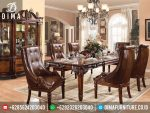 Set Meja Dan Kursi Makan Mewah Klasik Winfred Ukiran Jepara Terbaru ST-0186