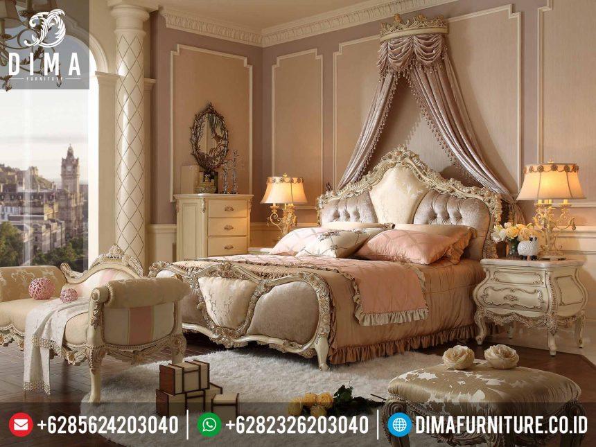 Set Tempat Tidur Mewah Jepara, Kamar Set Mewah Klasik Murah, Dipan Mewah Ukiran Terbaru ST-0216