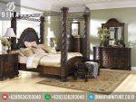 ST-0251 Set Kamar Tidur Mewah Klasik Kanopi Sunny Leone Jepara Terbaru
