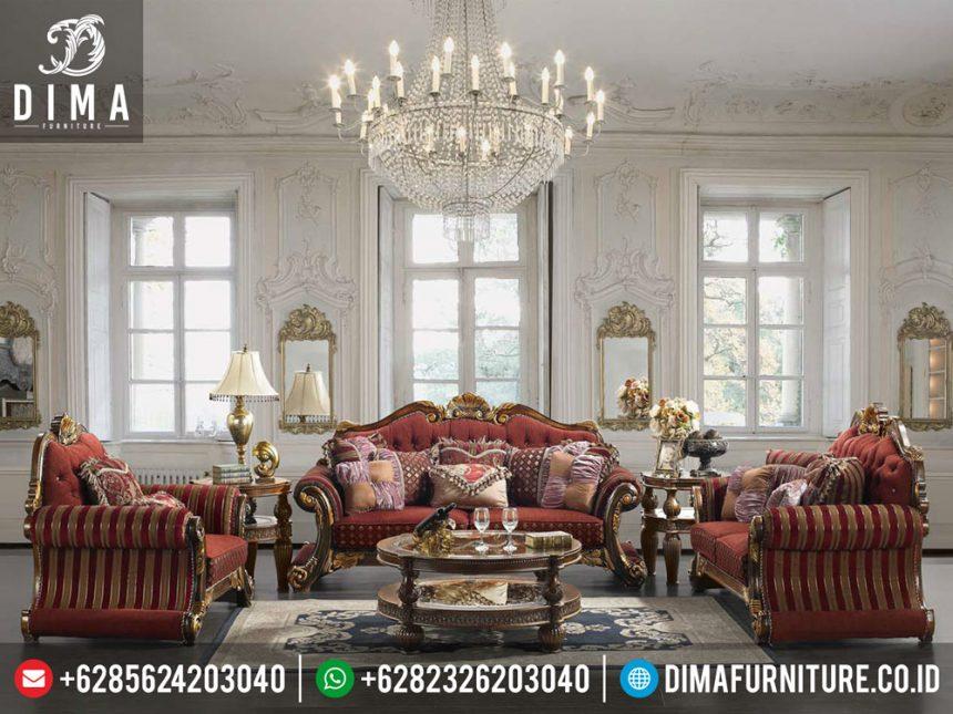 ST-0265 Mebel Mewah Jepara Set Kursi Tamu Luxurious Natural Gold