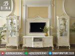ST-0276 Set Bufet TV Lemari Hias Minimalis Mewah Duco Putih Verdi Terbaru 2017