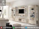 ST-0277 Set Bufet TV Lemari Hias Minimalis Modern Mewah Duco Putih Silver