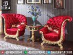 Set Kursi Teras Kipas Mewah Klasik Terbaru Red Gold Jepara ST-0291