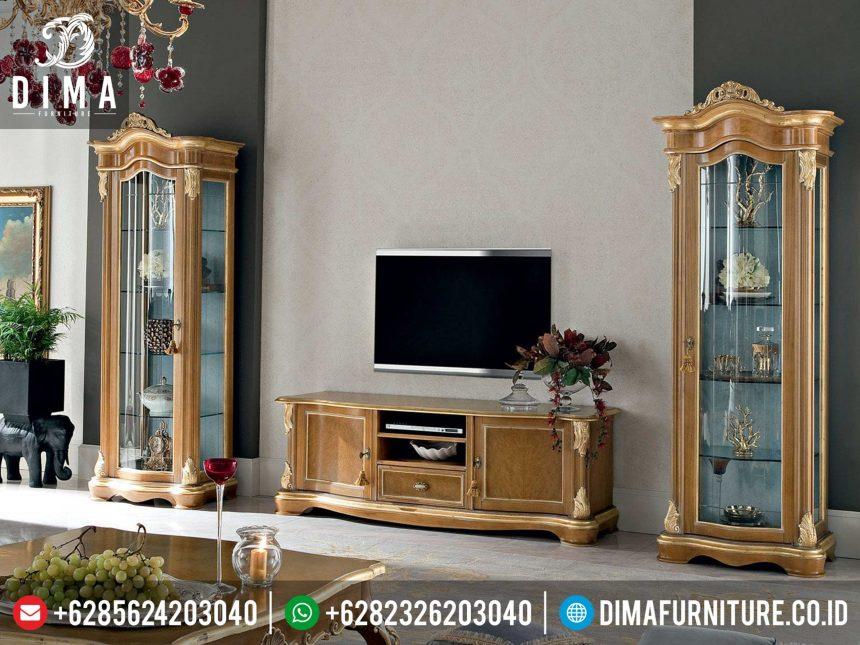 Bufet TV Mewah Minimalis, Buffet TV Jepara Terbaru, Lemari Hias Buffet TV Minimalis ST-0336