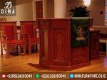 Mimbar Gereja Minimalis Jati, Mimbar Ceramah Gereja, Model Mimbar Minimalis Terbaru ST-0334
