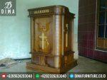 Mimbar Gereja Minimalis Terbaru, Mimbar Gereja Jati Jepara, Podium Mimbar Gereja Jati ST-0330