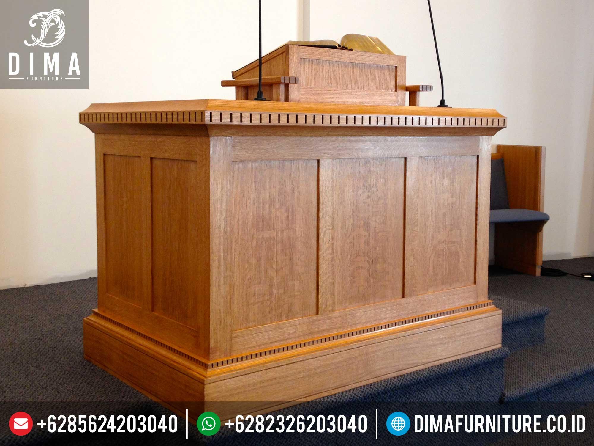 Mimbar Gereja Minimalis Terbaru, Mimbar Podium Ceramah, Mimbar Minimalis Jepara ST-0335