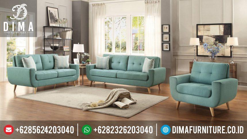 Model Sofa Kursi Tamu Minimalis Modern Jepara Terbaru Kanvas Aqua ST-0321